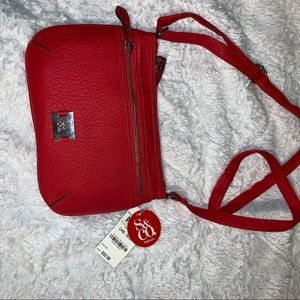 Handbags - NWT! Red Leather Crossbody